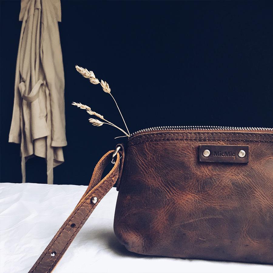 Image of   Lille skuldertaske | crossover taske læder, brun Cala Millor