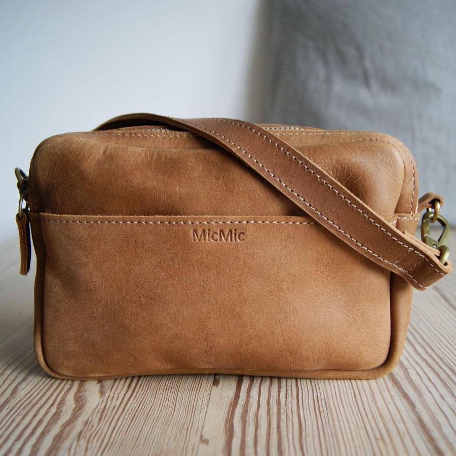 Image of Crossover taske i læder, Ella brun