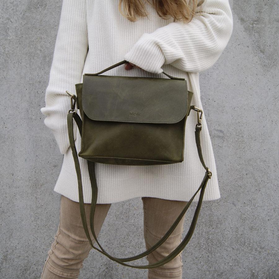 Image of   Crossover taske og rygsæk, Boro bag i oliven