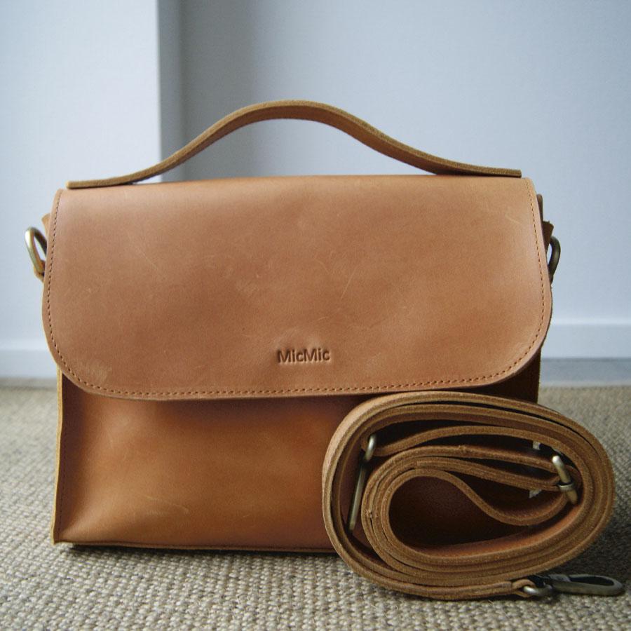 Image of Crossover taske til kvinder, Boro bag i cognac