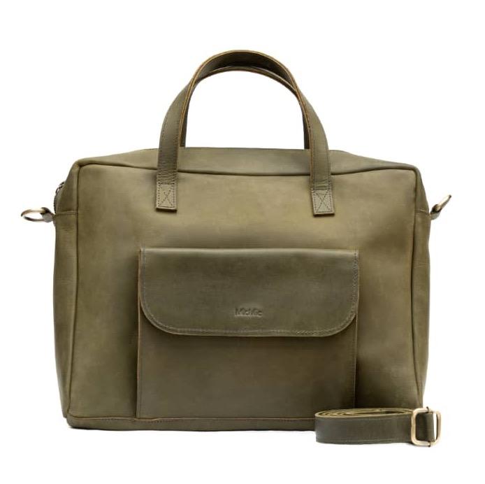 Oliven skuldertaske | crossover taske læder, Elba