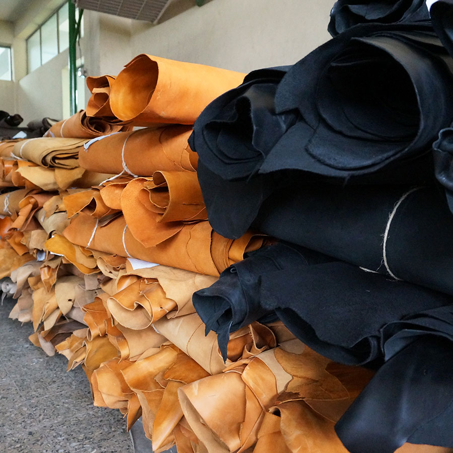 Læder fra Etiopisk garveri